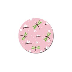 Dragonfly And White Flowers Pattern Golf Ball Marker (10 Pack)