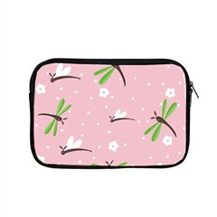 Dragonfly And White Flowers Pattern Apple Macbook Pro 15  Zipper Case by allthingseveryday