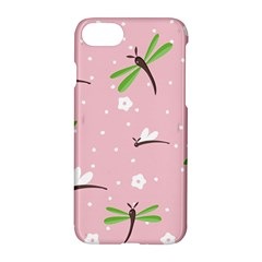 Dragonfly And White Flowers Pattern Apple Iphone 8 Hardshell Case by allthingseveryday