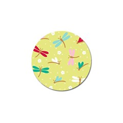 Colorful Dragonflies And White Flowers Pattern Golf Ball Marker (10 Pack) by allthingseveryday