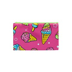 Summer Ice Creams Flavors Pattern Cosmetic Bag (xs) by allthingseveryday