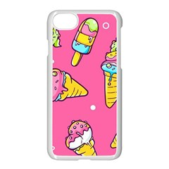 Summer Ice Creams Flavors Pattern Apple Iphone 8 Seamless Case (white) by allthingseveryday