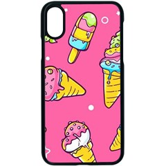 Summer Ice Creams Flavors Pattern Apple Iphone X Seamless Case (black) by allthingseveryday