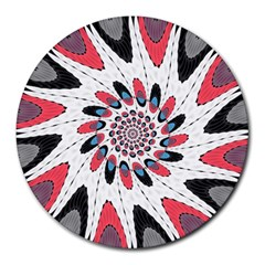 High Contrast Twirl Round Mousepads by linceazul