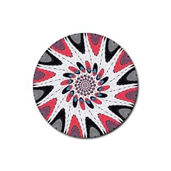High Contrast Twirl Rubber Coaster (round)  by linceazul
