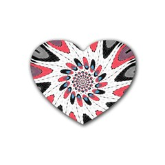High Contrast Twirl Heart Coaster (4 Pack)  by linceazul