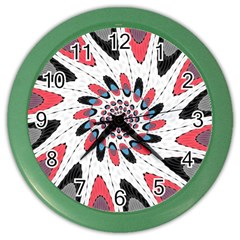 High Contrast Twirl Color Wall Clocks by linceazul