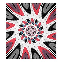 High Contrast Twirl Shower Curtain 66  X 72  (large)  by linceazul