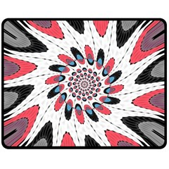 High Contrast Twirl Fleece Blanket (medium)  by linceazul