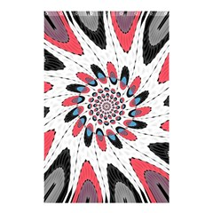 High Contrast Twirl Shower Curtain 48  X 72  (small)  by linceazul