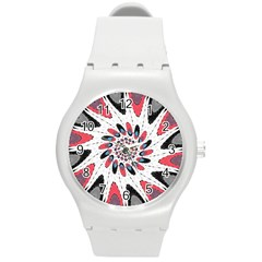 High Contrast Twirl Round Plastic Sport Watch (m) by linceazul