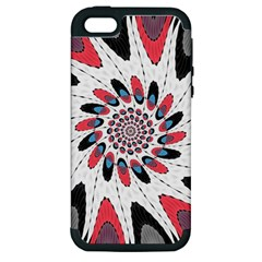 High Contrast Twirl Apple Iphone 5 Hardshell Case (pc+silicone) by linceazul