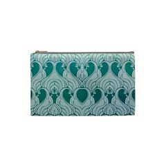 Teal Art Nouvea Cosmetic Bag (small)  by 8fugoso