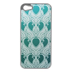 Teal Art Nouvea Apple Iphone 5 Case (silver) by 8fugoso