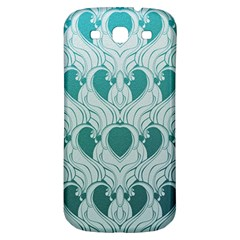 Teal Art Nouvea Samsung Galaxy S3 S Iii Classic Hardshell Back Case by 8fugoso