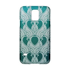 Teal Art Nouvea Samsung Galaxy S5 Hardshell Case  by 8fugoso