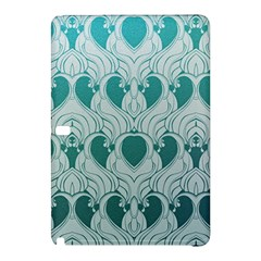 Teal Art Nouvea Samsung Galaxy Tab Pro 12 2 Hardshell Case by 8fugoso