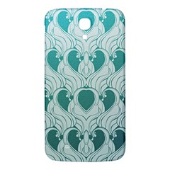 Teal Art Nouvea Samsung Galaxy Mega I9200 Hardshell Back Case by 8fugoso