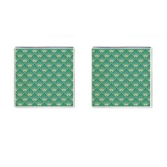 Green Fan  Cufflinks (square) by 8fugoso