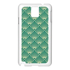 Green Fan  Samsung Galaxy Note 3 N9005 Case (white) by 8fugoso