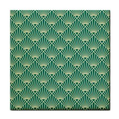 Green Fan  Tile Coasters by 8fugoso