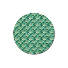 Green Fan  Magnet 3  (round) by 8fugoso
