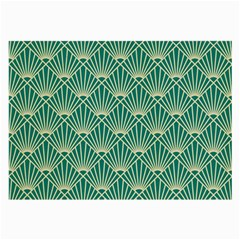 Green Fan  Large Glasses Cloth (2 Side) by 8fugoso
