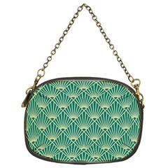 Green Fan  Chain Purses (two Sides)  by 8fugoso