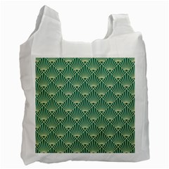 Green Fan  Recycle Bag (one Side) by 8fugoso