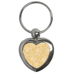 Yellow Peonines Key Chains (heart)  by 8fugoso