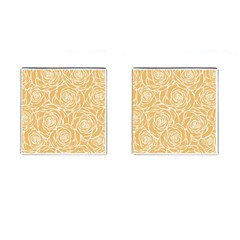 Yellow Peonines Cufflinks (square) by 8fugoso