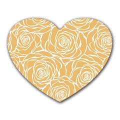 Yellow Peonines Heart Mousepads by 8fugoso