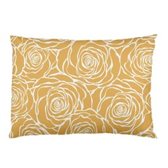 Yellow Peonines Pillow Case by 8fugoso