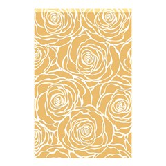 Yellow Peonines Shower Curtain 48  X 72  (small)  by 8fugoso