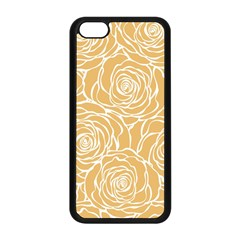 Yellow Peonines Apple Iphone 5c Seamless Case (black) by 8fugoso
