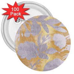 Gold Silver 3  Buttons (100 Pack)  by 8fugoso
