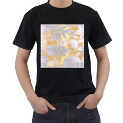 Gold Silver Men s T Shirt (black) (two Sided) by 8fugoso