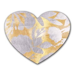 Gold Silver Heart Mousepads by 8fugoso