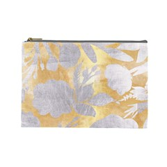 Gold Silver Cosmetic Bag (large)  by 8fugoso