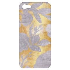 Gold Silver Apple Iphone 5 Hardshell Case by 8fugoso