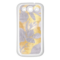 Gold Silver Samsung Galaxy S3 Back Case (white) by 8fugoso