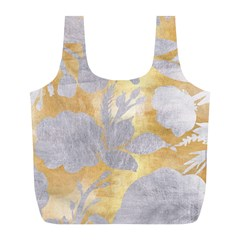 Gold Silver Full Print Recycle Bags (l)  by 8fugoso