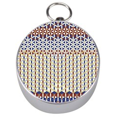 Flower Of Life Pattern 2 Silver Compasses by Cveti