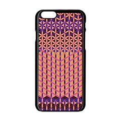 Flower Of Life Pattern 3 Apple Iphone 6/6s Black Enamel Case by Cveti