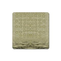 Shooting Stars Over The Sea Of Calm Square Magnet by pepitasart