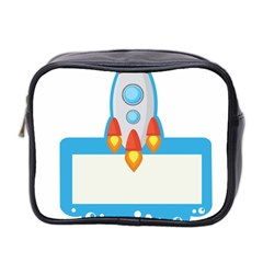 Rocket Spaceship Clip Art Clipart Mini Toiletries Bag 2 Side by Celenk