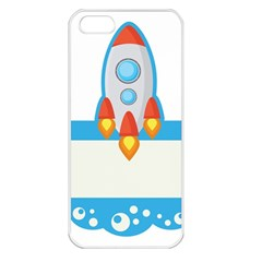 Rocket Spaceship Clip Art Clipart Apple Iphone 5 Seamless Case (white) by Celenk