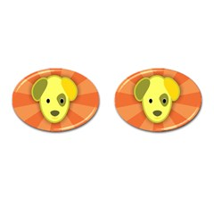 Adoption Animal Bark Boarding Cufflinks (oval) by Celenk