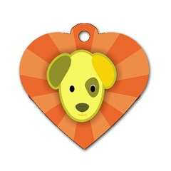 Adoption Animal Bark Boarding Dog Tag Heart (two Sides)