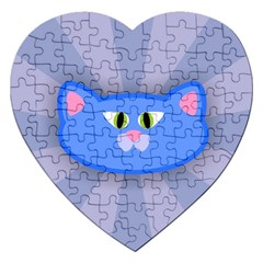 Advertise Animal Boarding Cat Jigsaw Puzzle (heart) by Celenk